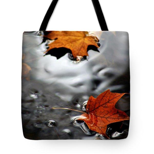 Floating Maple Leaves Tote Bag by LeeAnn McLaneGoetz McLaneGoetzStudioLLCcom