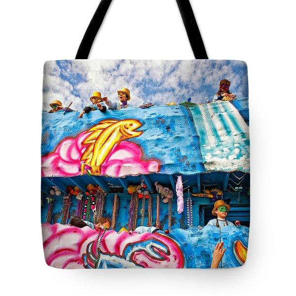 Floating Thru Mardi Gras Tote Bag by Steve Harrington