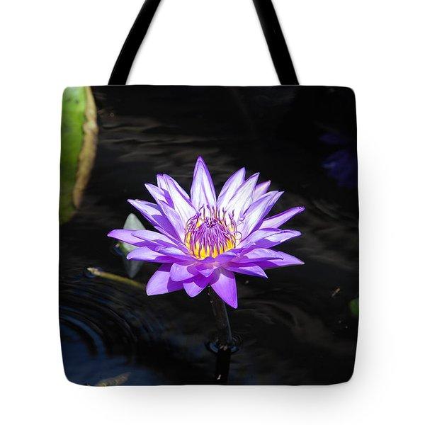 Floral Burst Of Purple Tote Bag by Jennifer Ancker