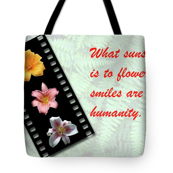 Floral Filmstrip Tote Bag by Bill Barber