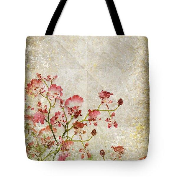 floral pattern Tote Bag by Setsiri Silapasuwanchai