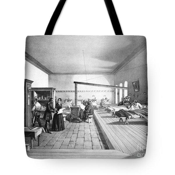 Florence Nightingale, English Nurse Tote Bag by Photo Researchers, Inc.