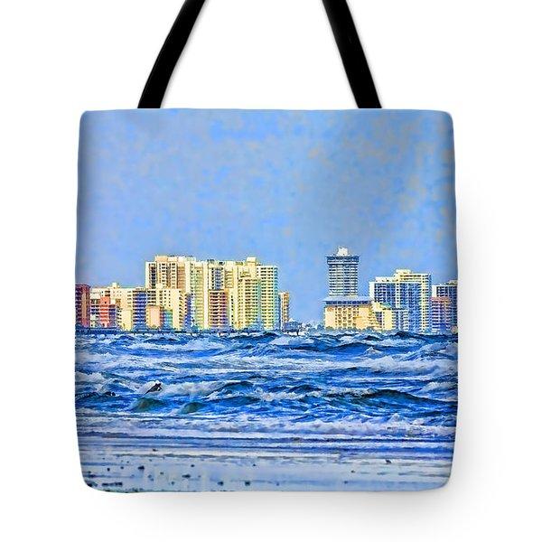 Florida Turbulence Tote Bag by Deborah Benoit