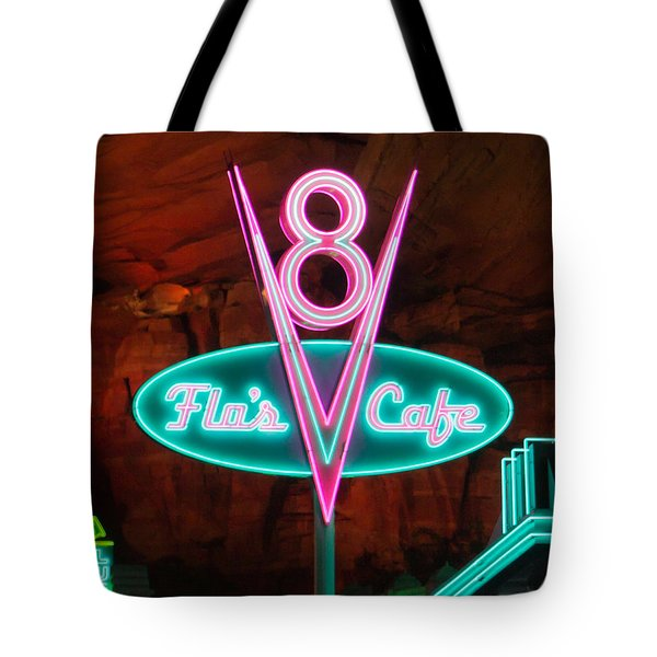 Flo's V8 Cafe - Cars Land - Disneyland Tote Bag by Heidi Smith