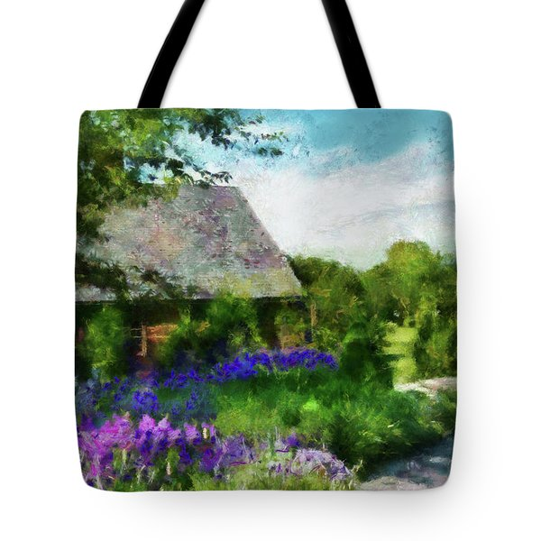 Flower - Town Square  Tote Bag by Mike Savad