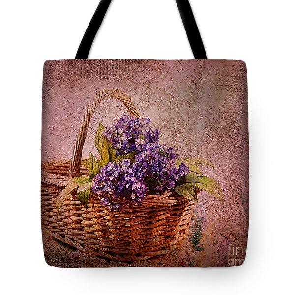 Flower Basket Tote Bag by Judi Bagwell