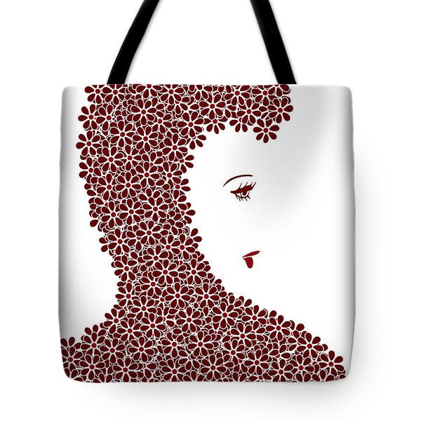 Flower Fashion Tote Bag by Frank Tschakert