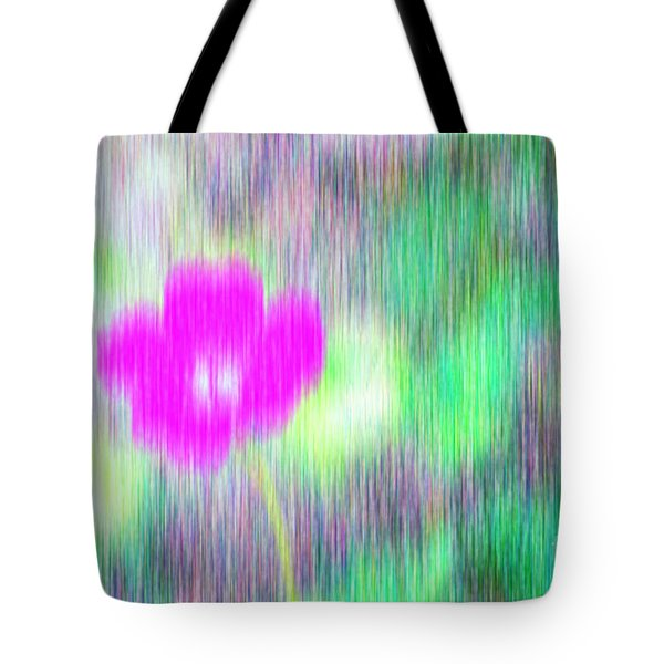 Flower In The Rain Tote Bag by Silvia Ganora