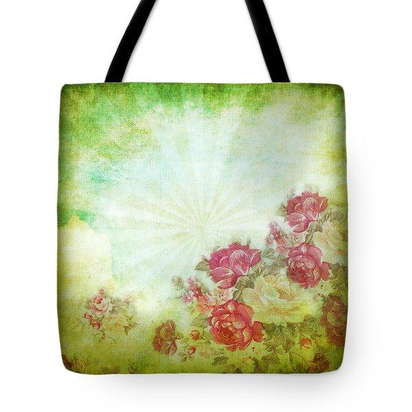 flower pattern on paper Tote Bag by Setsiri Silapasuwanchai