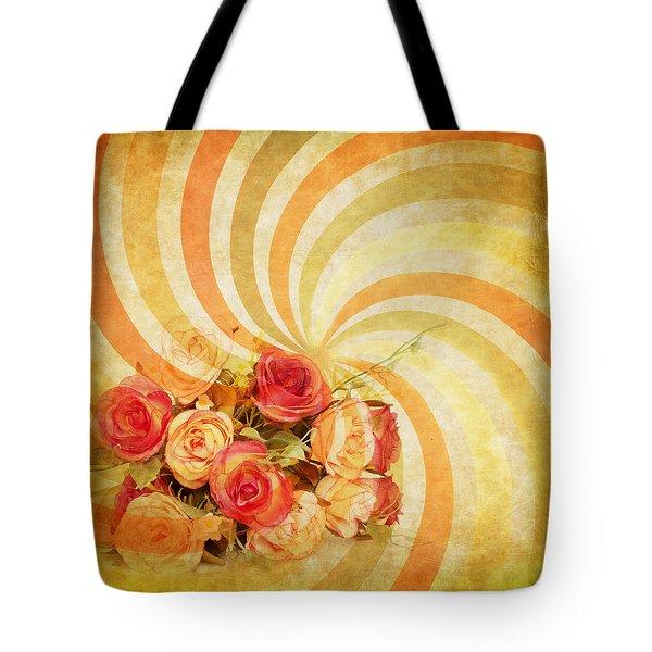 flower pattern retro style Tote Bag by Setsiri Silapasuwanchai