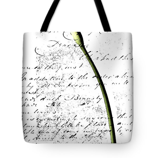 Flowers and Love Letters 2 Tote Bag by Anahi DeCanio