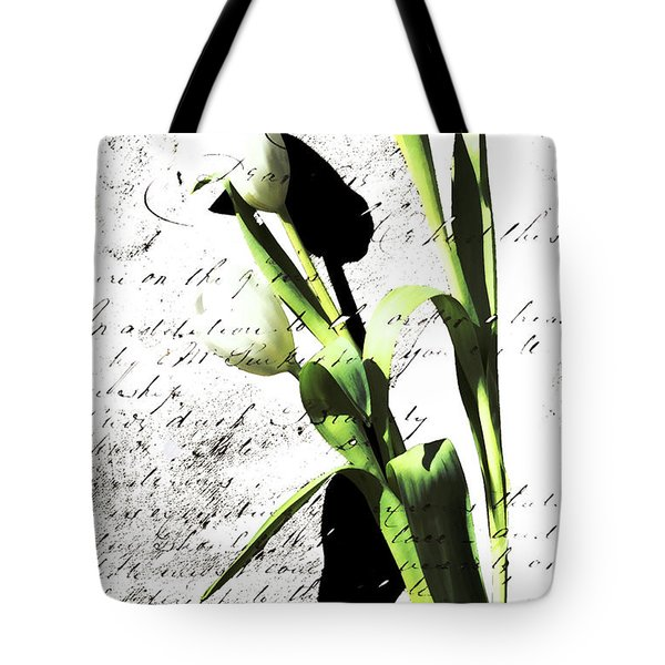 Flowers and Love Letters Tote Bag by Anahi DeCanio