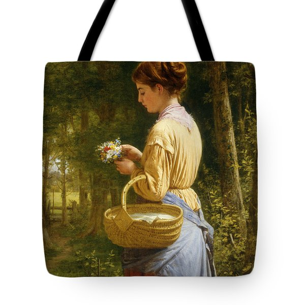 Flowers From The Woods Tote Bag by JO Bank