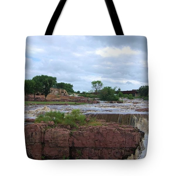 Flowing Falls Tote Bag by Judy Hall-Folde