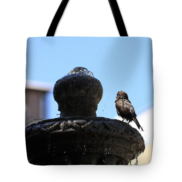 Fluff Dry Tote Bag by Cheryl Young