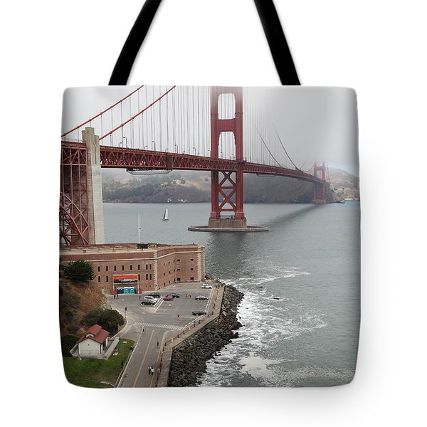 Fog At The San Francisco Golden Gate Bridge - 5D18872 Tote Bag by Wingsdomain Art and Photography