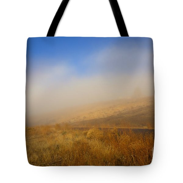 Fog Bow At Lookout Point Tote Bag by Mike  Dawson