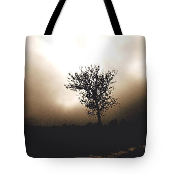 Foggy Winter Morning Tote Bag by Ann Powell