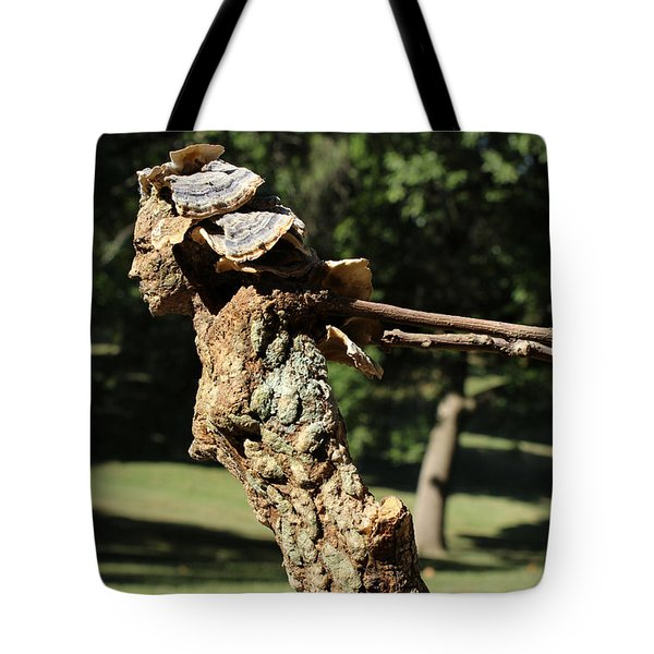 Foliated Victory Among The Trees Tote Bag by Adam Long