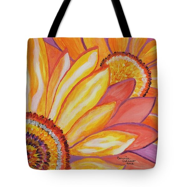 Follow The Sun Tote Bag by Connie Valasco