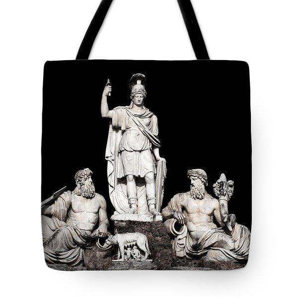 Fontana Della Dea Roma Tra Il Tevere E L'aniene Tote Bag by Fabrizio Troiani