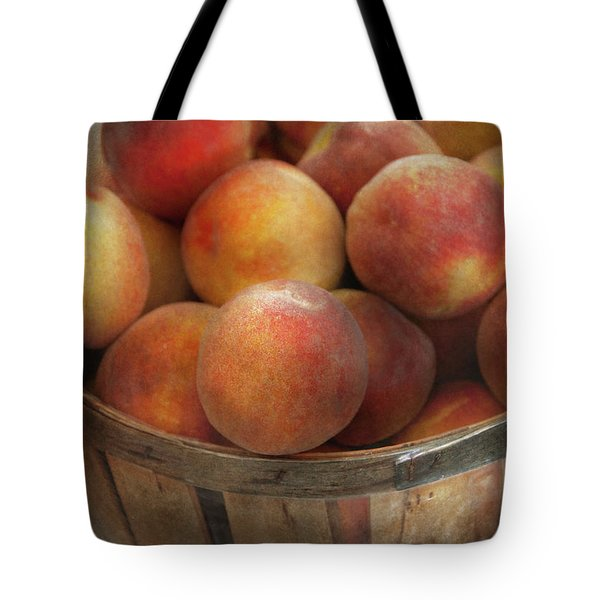Food - Peaches - Just Peachy Tote Bag by Mike Savad