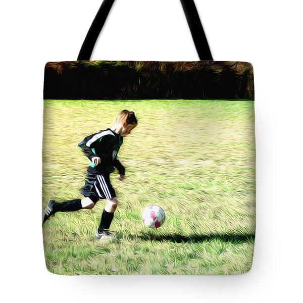Footballer Tote Bag by Bill Cannon