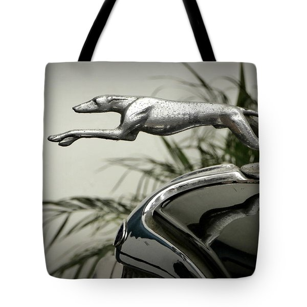 Ford Greyhound Radiator Cap Tote Bag by Karyn Robinson