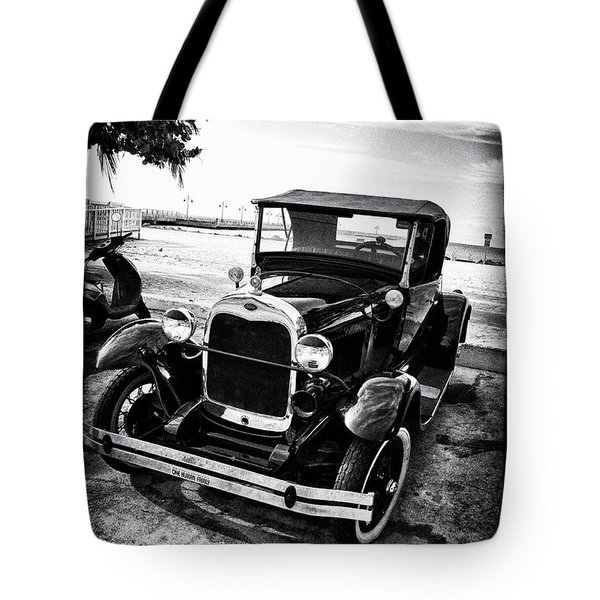 Ford Model T Film Noir Tote Bag by Bill Cannon