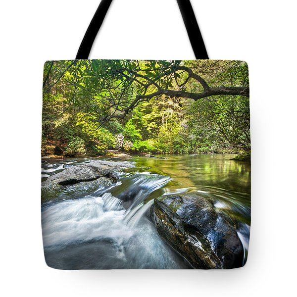Forest Jewel Tote Bag by Debra and Dave Vanderlaan