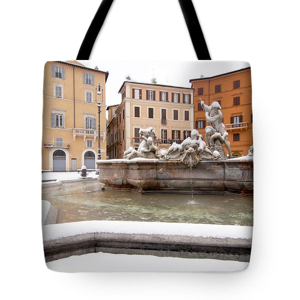 Fountain of Neptune Tote Bag by Fabrizio Troiani