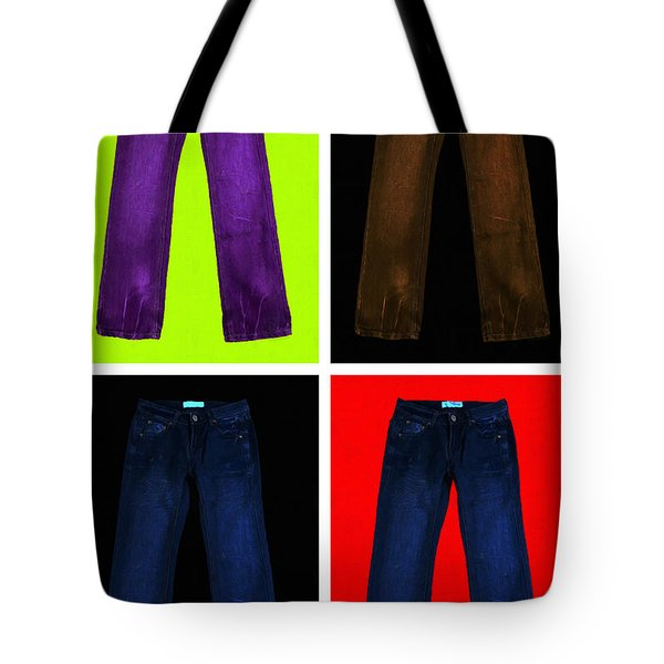 Four Pairs of Blue Jeans - Painterly Tote Bag by Wingsdomain Art and Photography