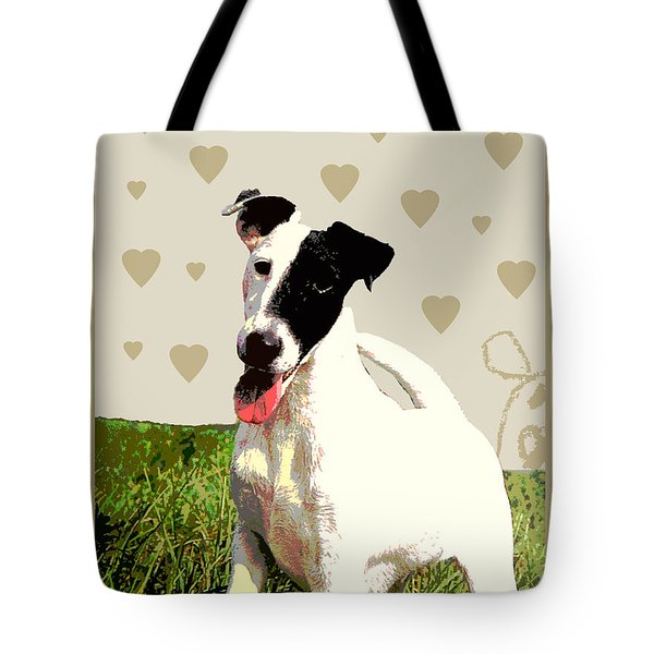 Fox Terrier Smooth Tote Bag by One Rude Dawg Orcutt