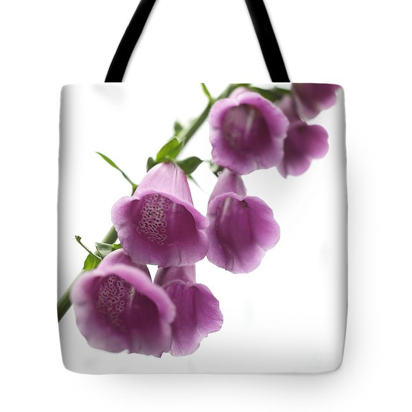 Foxglove Flowers Tote Bag by Tony Cordoza