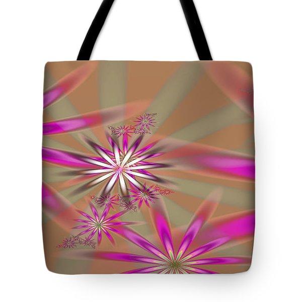 Fractal Flowers Tote Bag by Gina Lee Manley
