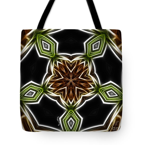 Fractal Kaleidoscope Tote Bag by Cheryl Young