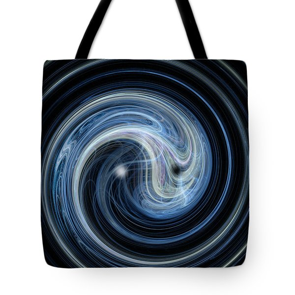 Fractal Yin And Yang Tote Bag by Nicholas Burningham