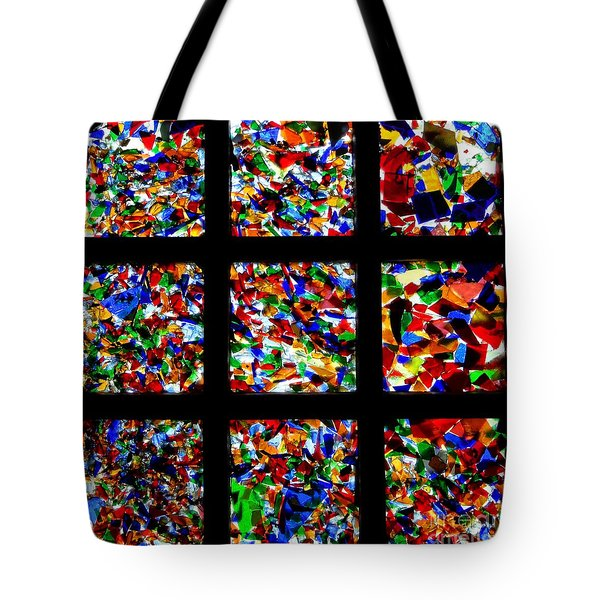 Fractured Squares Tote Bag by Meandering Photography