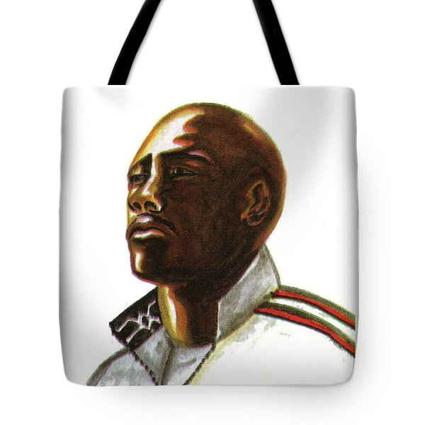 Franckie Fredericks Tote Bag by Emmanuel Baliyanga