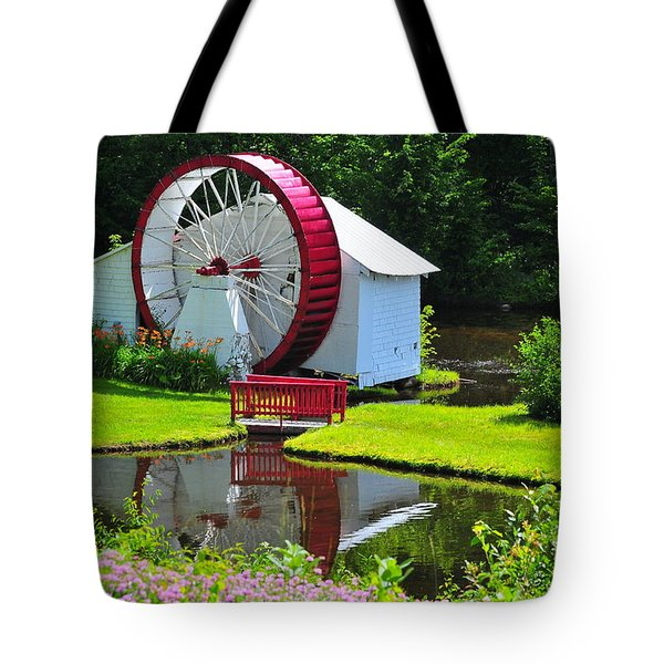 Franconia Notch Waterwheel Tote Bag by Catherine Reusch  Daley