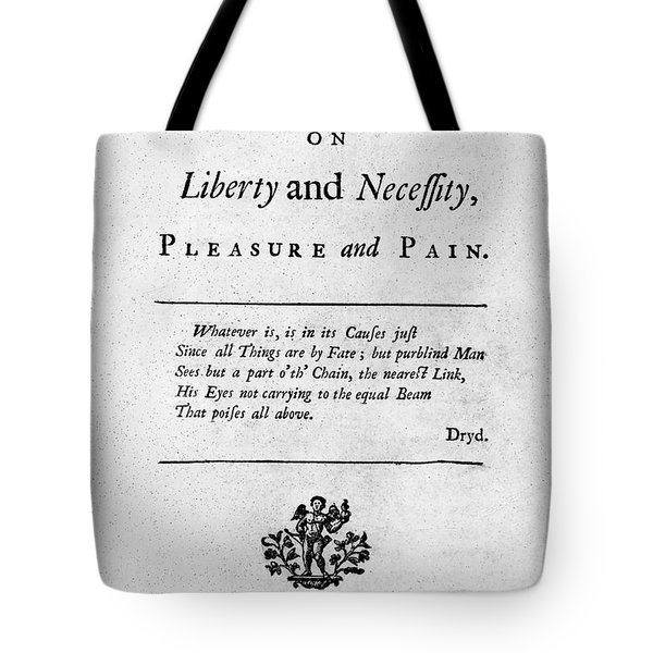 Franklin: Title Page, 1725 Tote Bag by Granger
