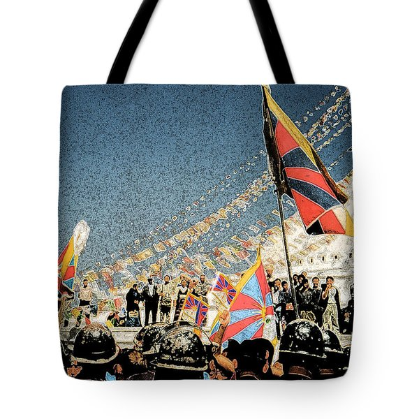 Free Tibet Tote Bag by First Star Art