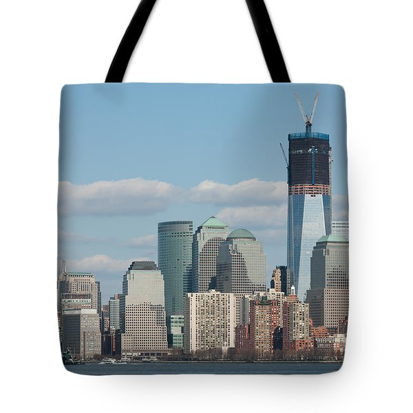 Freedom Tower And Manhattan Skyline II Tote Bag by Clarence Holmes