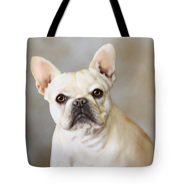 French Bulldog Luna Tote Bag by Barbara Hymer
