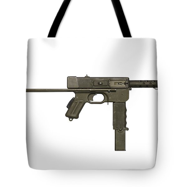 French Mat-49 Submachine Gun Tote Bag by Andrew Chittock
