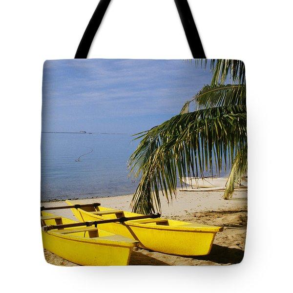 French Polynesia, Rangiro Tote Bag by Mary Van de Ven - Printscapes