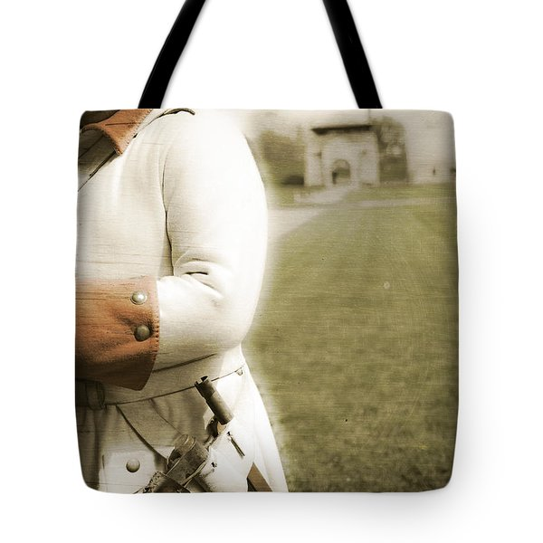 French Soldier Standing Guard Tote Bag by Keith Allen