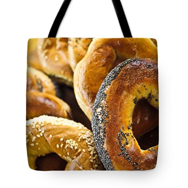Fresh Bagels Tote Bag by Elena Elisseeva
