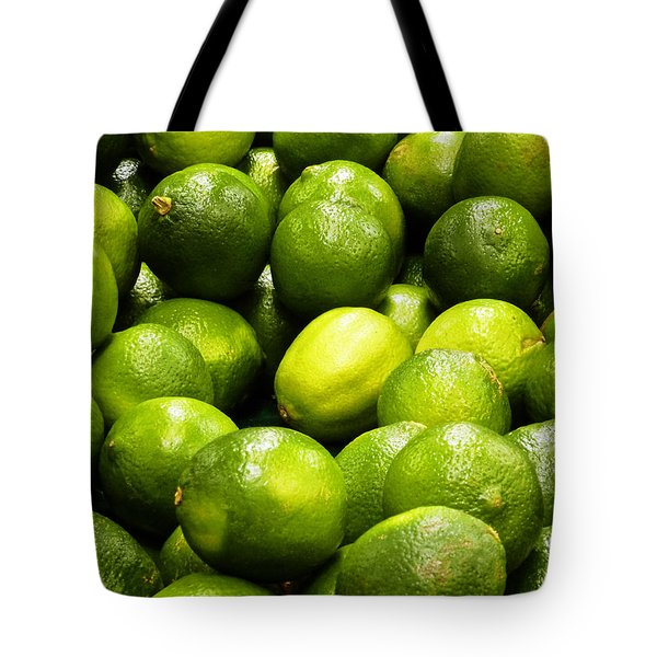 Fresh Limes Tote Bag by Methune Hively