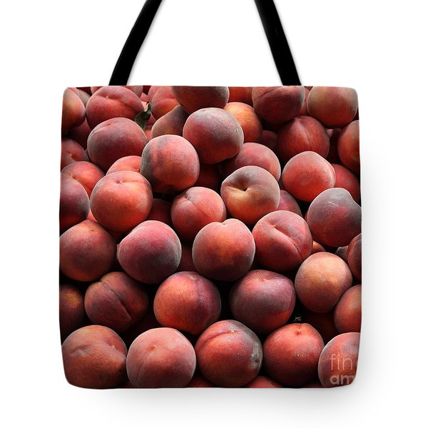 Fresh Peaches - 5D17816 Tote Bag by Wingsdomain Art and Photography